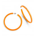 Rainbow Swarovski Crystal Orange Big Hoop Earrings