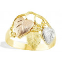 New 14k Tri Color Gold Grape Vine Leaf Women's Ring